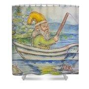 Fishing Around Shower Curtain