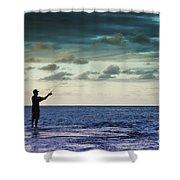 Fishing At Dusk Shower Curtain