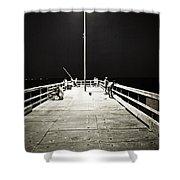 Fishing At Night Shower Curtain