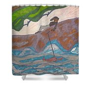 Fishing At The Cove Shower Curtain