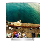 Fishing Beirut  Shower Curtain