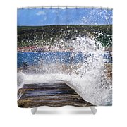 Fishing Beyond The Surf Shower Curtain