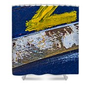 Fishing Boat Abstract Shower Curtain