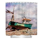 Fishing Boat At Aldeburgh Shower Curtain