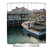 Fishing Boat At Chatham Fish Pier Shower Curtain
