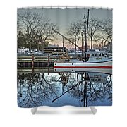 Fishing Boat At Newburyport Shower Curtain