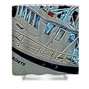 Fishing Boat Hdr Shower Curtain