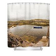 Fishing Boat In Lambs Head Harbor Shower Curtain