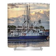 Fishing Boat In Port Shower Curtain