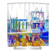 Fishing Boats 2 Shower Curtain