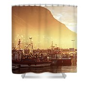 Fishing Boats At Dawn Kalk Bay South Africa Shower Curtain