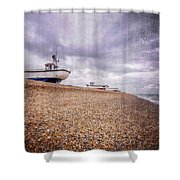 Fishing Boats At Dungeness Shower Curtain