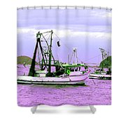 Fishing Boats At Pearl Beach 1.0 Shower Curtain