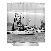 Fishing Boats At Pearl Beach 1.2 Shower Curtain