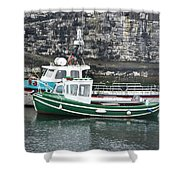 Fishing Boats Clarnlough Northern Ireland Shower Curtain