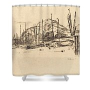 Fishing-boats, Hastings Shower Curtain