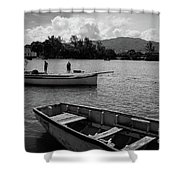 Fishing Boats In Mahebourg  Shower Curtain