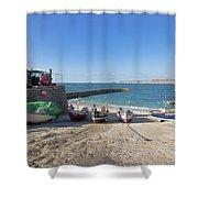 Fishing Boats In Sennen Cove Shower Curtain