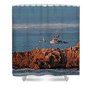 Fishing Boats On Monterey Bay Shower Curtain