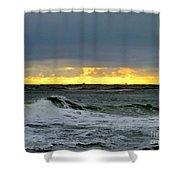 Fishing Boats On The Horizon Shower Curtain