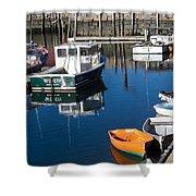 Fishing Boats, Rockport, Ma Shower Curtain