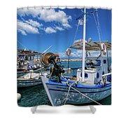 Fishing Boats Shower Curtain