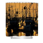 Fishing Boats Sunset Light Shower Curtain