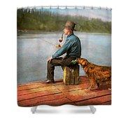 Fishing - Booze Hound 1922 Shower Curtain