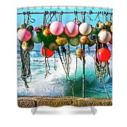 Fishing Buoys Shower Curtain