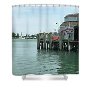 Fishing Dock Shower Curtain