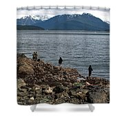 Fishing False Outer Point Shower Curtain