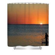 Fishing For Light Shower Curtain