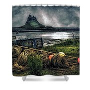 Fishing Gear At Lindisfarne. Shower Curtain