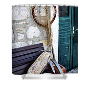 Fishing Gear In Primosten, Croatia Shower Curtain