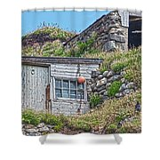 Fishing Huts Cape Cornwall Shower Curtain