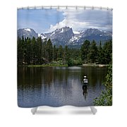 Fishing In Colorado Shower Curtain