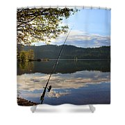 Fishing In Early Morning Shower Curtain