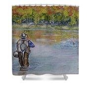 Fishing In Natures Beauty Shower Curtain