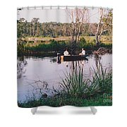 Fishing In The Bayou Shower Curtain