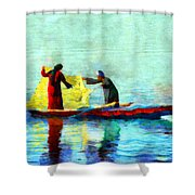 Fishing In The Nile Shower Curtain