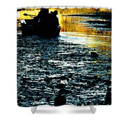 Fishing In The Pond Shower Curtain