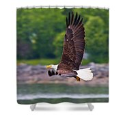 Fishing In The Rain Shower Curtain