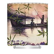 Fishing In The Sunset   Shower Curtain
