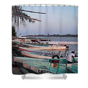 Fishing In Veracruz Shower Curtain