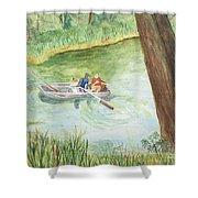 Fishing Lake Tanko Shower Curtain
