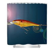 Fishing Lure  Shower Curtain