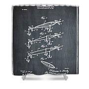 Fishing Lure Patent 1904 Chalk Shower Curtain