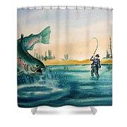Fishing Montana Shower Curtain