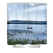 Fishing On Lake Carmi Shower Curtain