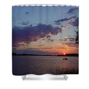 Fishing On The St.lawrence River. Shower Curtain